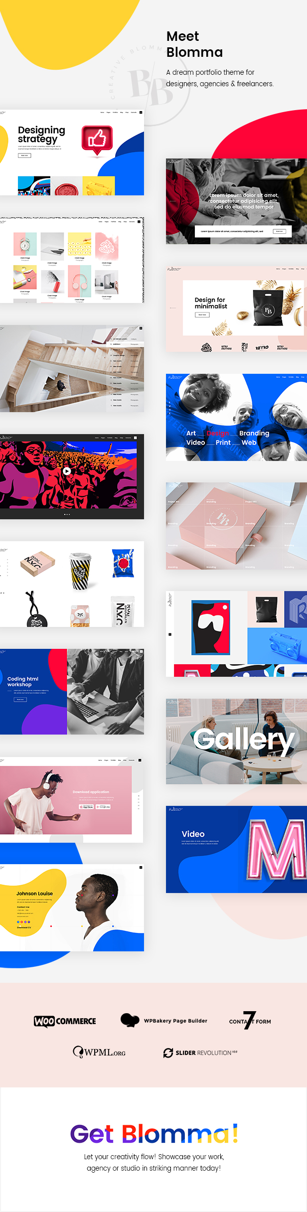 Blomma - Creative Agency Portfolio Theme - 1